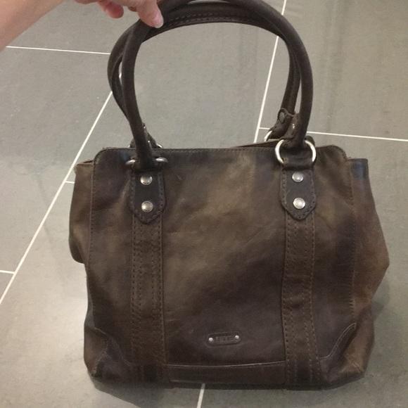 76bf483a35f4 Frye Handbags - Frye Melissa Washed Leather Tote, Womens, Slate